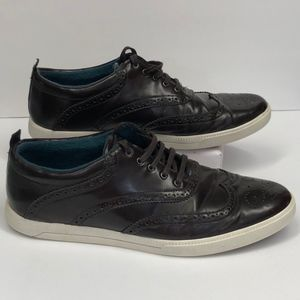 Zara  brown wingtips punched sneakers shoes 43